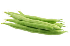 Green Beans Isolated On White Stock Images