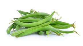 Green beans isolated on  white background Royalty Free Stock Photography