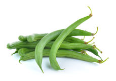 Green beans isolated on white background Royalty Free Stock Photos