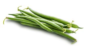 Green beans isolated on a white background. Clipping path stock photography