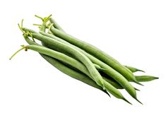 Green beans isolated on a white background. Clipping path stock photos