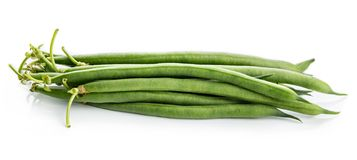 Green beans isolated on a white background. Clipping path royalty free stock image