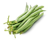 Green beans isolated on a white background. Clipping path. Green beans isolated on a white background royalty free stock photography