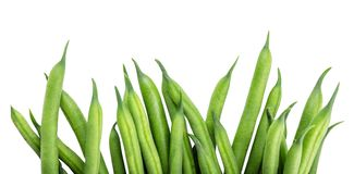 Green beans isolated on a white background. Clipping path stock image