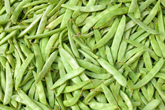 Green beans on a market Stock Photography
