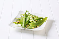 Green beans, mung beans and snow peas Royalty Free Stock Photo