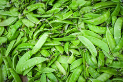 Green beans at outdoor asian market Royalty Free Stock Photos