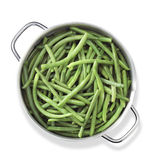 Green beans in pan Royalty Free Stock Photography