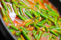 Green beans in a pan Royalty Free Stock Photos