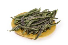 Green beans in pate isolated Royalty Free Stock Images