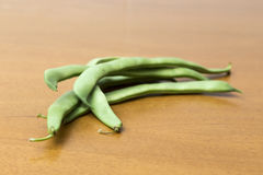 Green beans piled up Stock Image