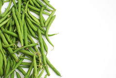 Green beans and place for text Royalty Free Stock Photography