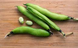 Green beans in pods Stock Photos