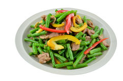 Green beans with pork Stock Photography
