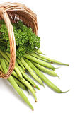 Green beans and salad Royalty Free Stock Images