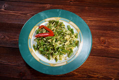 Green beans salad Royalty Free Stock Images
