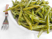 Green Beans Salad on white dish. Royalty Free Stock Image