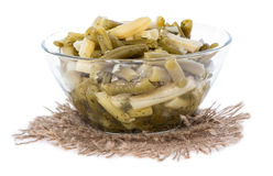 Green Beans salad on white Royalty Free Stock Photos