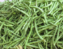 Green Beans for sale in the market Stock Images