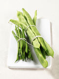Green beans and snow peas Stock Image
