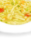 Green beans soup. In white plate royalty free stock photo