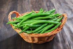 Green beans string Stock Photo