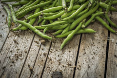 Green beans on the table Royalty Free Stock Photography