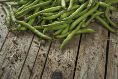 Green beans on the table Royalty Free Stock Image