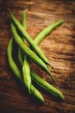 Green beans - tilt shift selective focus effect Royalty Free Stock Photo