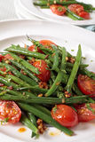 Green beans and tomato salad Stock Photos
