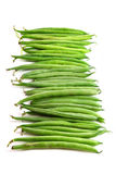 Green beans, vertical format, isolated on white Stock Photography