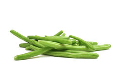 Green beans on white. Shot of green beans on white royalty free stock photography