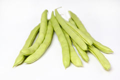 Green beans on white Royalty Free Stock Image
