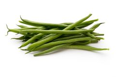 Green beans  on a white background. Royalty Free Stock Images