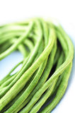 Green beans on white background Stock Image