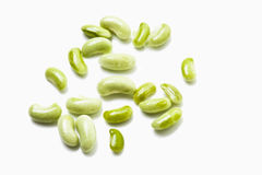 Green beans on white background stock images