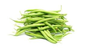 Green beans on white background Stock Photos