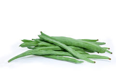 Green beans on white background Royalty Free Stock Photos