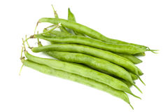 Green beans on white Royalty Free Stock Photography