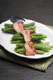 Green Beans Wrapped In Bacon Stock Image