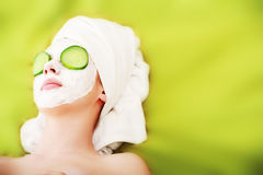 Green beautician Royalty Free Stock Photos