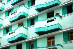 Green beautiful balconies Stock Photos