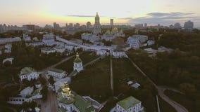 Green and beautiful center of Kiev, Ukraine stock video