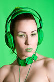 Green beauty royalty free stock photography