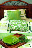 Green bed 2 Royalty Free Stock Image