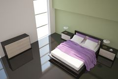 Green bedroom Royalty Free Stock Photography