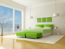 Green bedroom Royalty Free Stock Photos