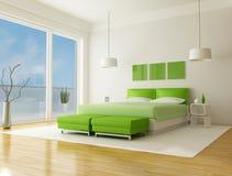 Green bedroom Royalty Free Stock Photos