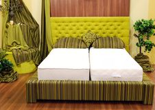 Green bedroom Royalty Free Stock Photo