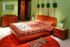Green bedroom Royalty Free Stock Images